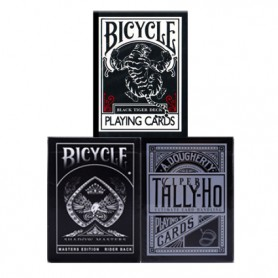 Black Pack: Bicycle Black Tiger + Bicycle Shadow Master + Tally-Ho Viper deck - SPEDIZIONE GRATIS!