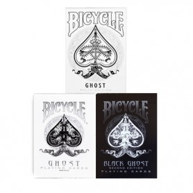 Bicycle ghost pack: Bicycle white ghost + Bicycle black ghost + Bicycle ghost legacy deck - SPEDIZIONE GRATIS!
