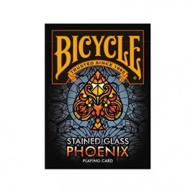 Bicycle Stained Glass Phoenix