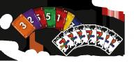 Cranio Creations Gioco di carte in Scatola 7 Rosso