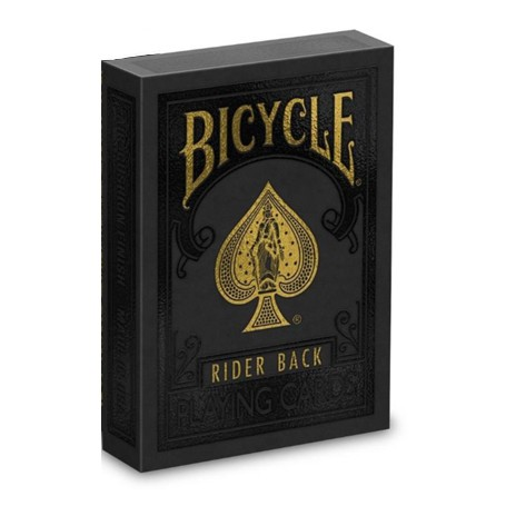 Bicycle Rider Back Black-Gold