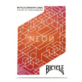 Bicycle Neon Cardistry Orange Bump