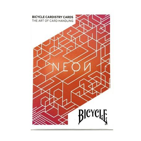 Bicycle Neon Cardistry Orange Bump