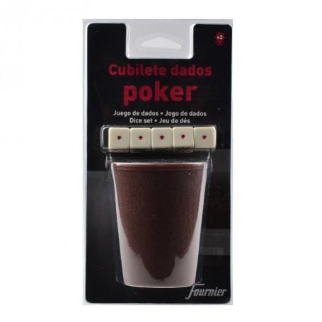 Bicchiere 5 dadi poker